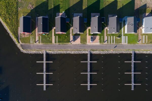 Drohnenaufotografie Hafendorf Zerpenschleuse ©offenblende.de