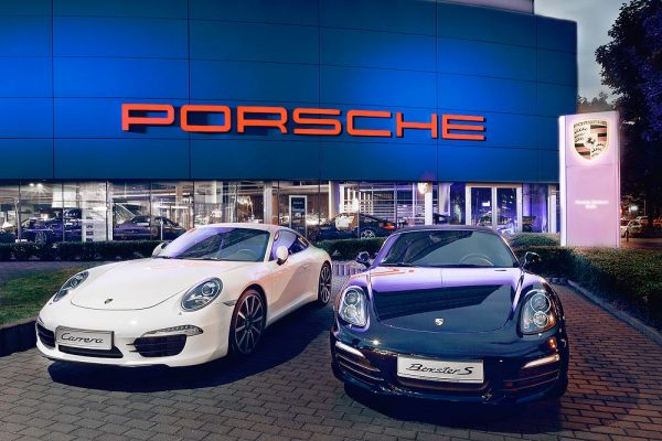 Fassaden Fotografie Autohaus Porsche Zentren in Berlin ©offenblende.de