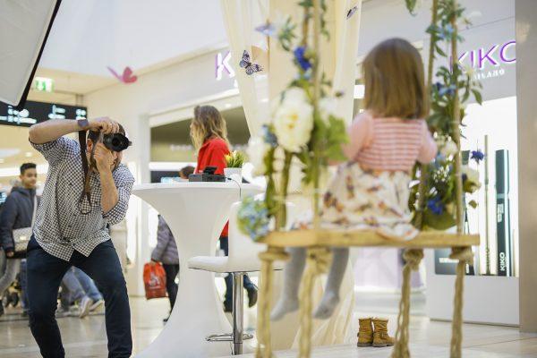 Fotoaktion im Shopping-Center