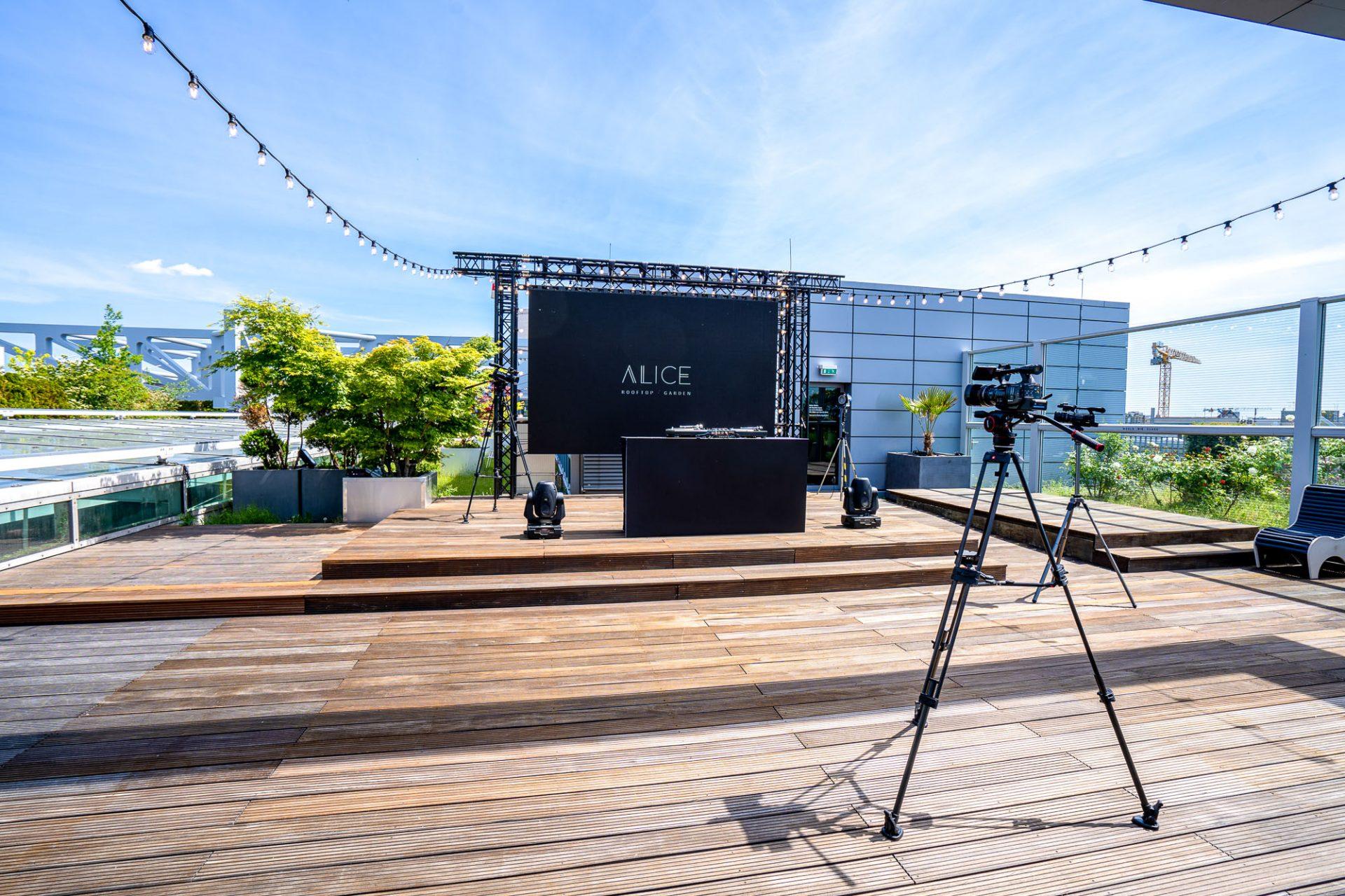 Hybrid Events mit Live-Streaming: Eventlocation Alice Rooftop & Garden Location in Berlin