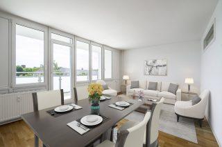 Immobilienfotografie Bildbearbeitung mit Virtual Home-Staging © Offenblende.de - Moderner Stil
