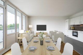 Immobilienfotografie Bildbearbeitung mit Virtual Home-Staging © Offenblende.de - Skandinavischer Stil