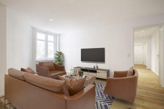 Immobilienfotografie Bildbearbeitung mit Virtual Home-Staging © Offenblende.de - Industrieller Stil