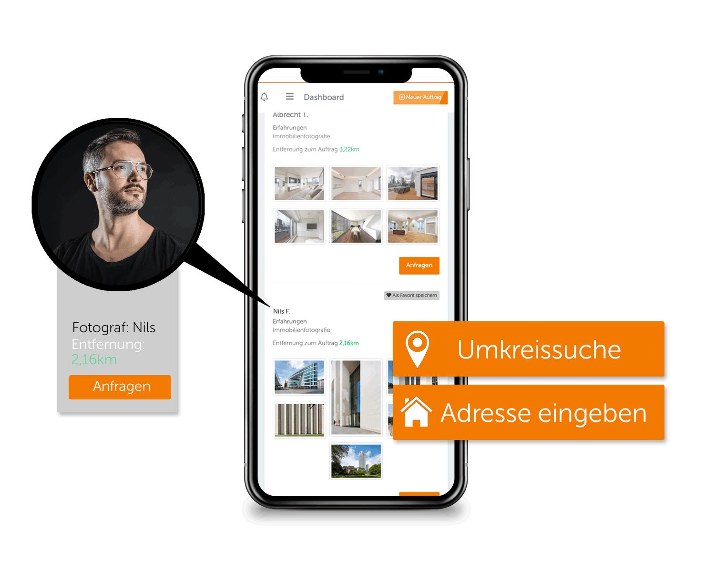 Immobilienfotograf in deiner Nähe finden mit Umkreissuche