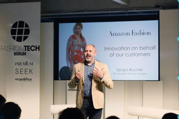 Sergio Bucher (VP Amazon Fashion) Konferenz Fashiontech Fotograf ©offenblen.de