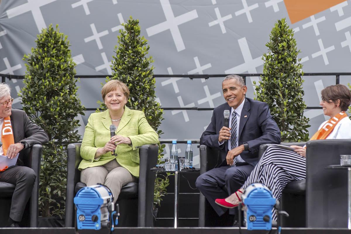 Konferenzfotograf beim Auftritt von Angela Merkel und Barack Obama in Berlin