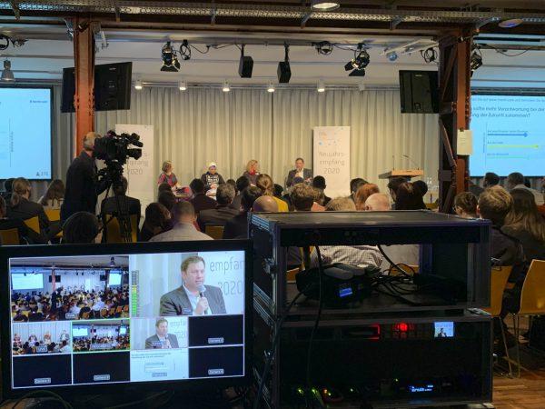 Videoproduktion: Konferenzmitschnitt und Live-Stream des D64-Neujahrsempfang