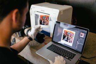 Polaroid Fotodruck vor Ort