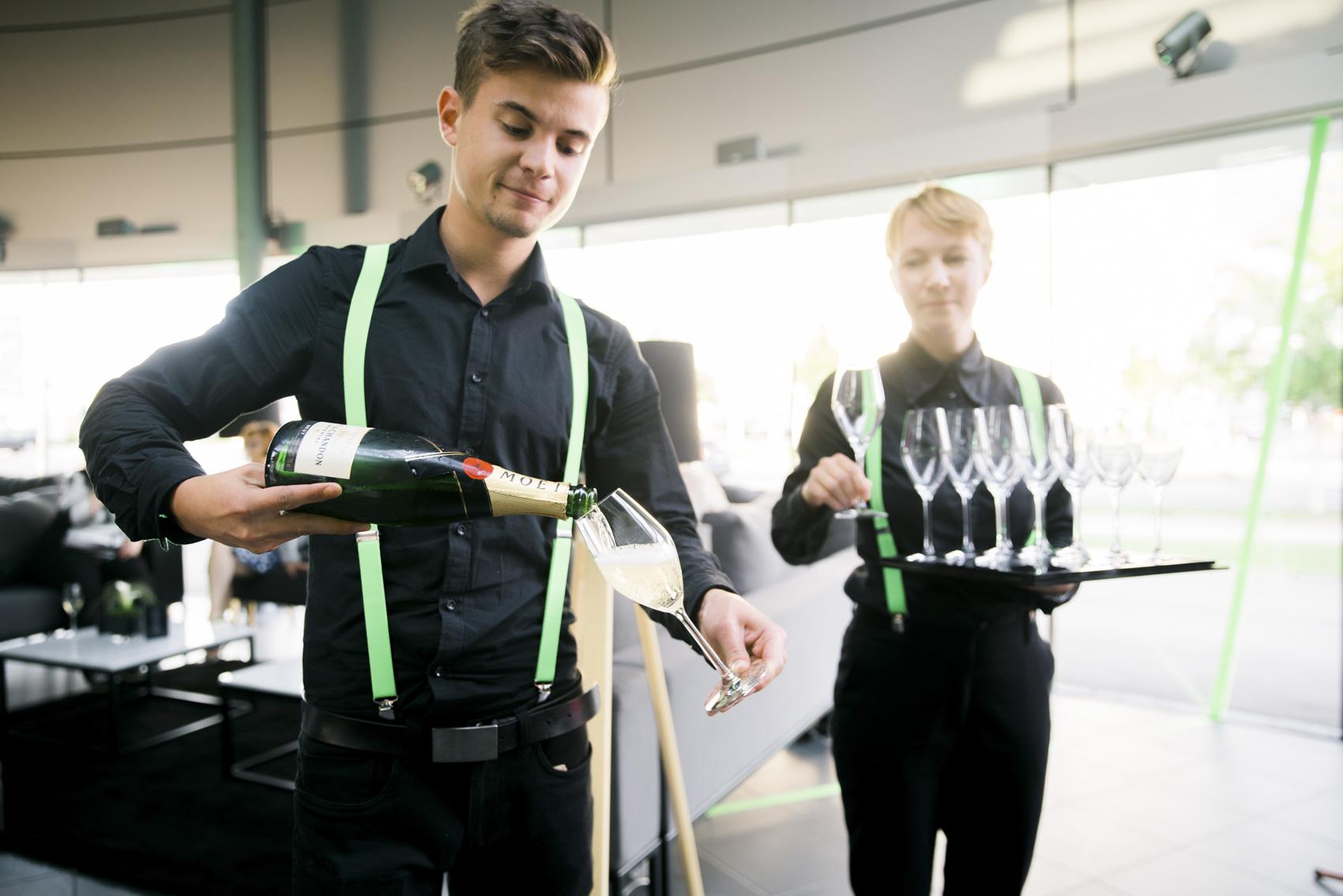 Referenzen Eventfotografie: Moet Chandon Champagnerempfang bei Porsche Event