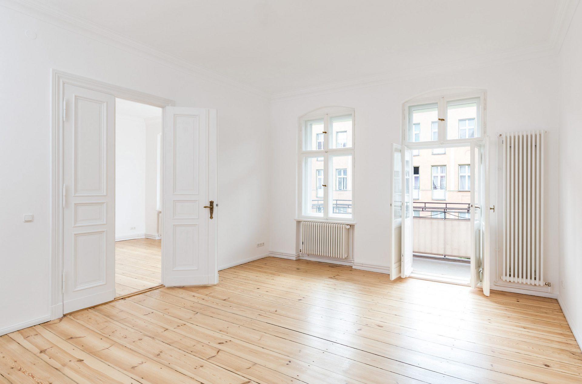 Immobilienfotografie Wohnzimmer Altbau ©offenblende.de